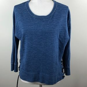J Crew Indigo lace-up sweatshirt M
